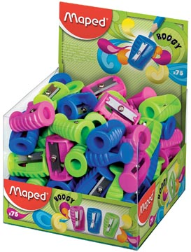 Maped taille crayon Boogy 1 trous, couleurs assorties
