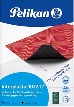 Pelikan papier carbone Interplastic 1022G, pochette de 10 feuilles
