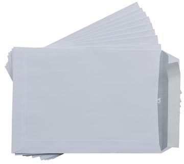 Gallery enveloppes, Ft 162 x 229 mm, avec bande adhésif, paquet de 10 pièces