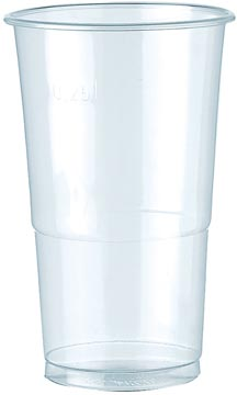 Gobelet en polypropylène pour des boissons froides, 250 ml, blanc, paquet de 100 pièces