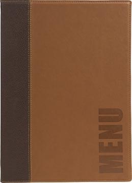 Securit Trendy protège-menu ft A4, brun clair