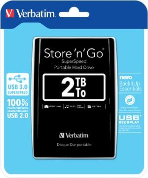 Verbatim disque dur 3.0 Store 'n' Go, 2 To, noir