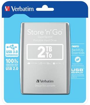 Verbatim disque dur 3.0 Store 'n' Go, 2 To, argent
