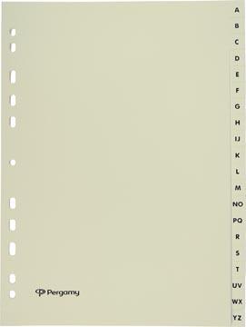 Pergamy intercalaires, ft A4, en carton, A-Z, 11 trous, beige
