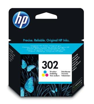 HP cartouche d'encre 302, 165 pages, OEM F6U65AE, 3 couleurs