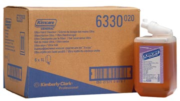 Kleenex recharge pour distribiteur crème de lavage des mains Aquarius, parfum ambre, flacon de 1 litre