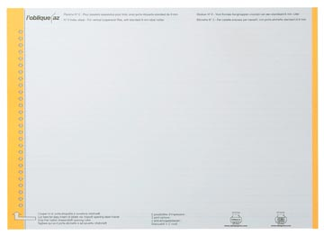 Elba étiquettes dossiers suspendus, pour tiroirs, jaune, 1 feuille avec 27 étiquettes