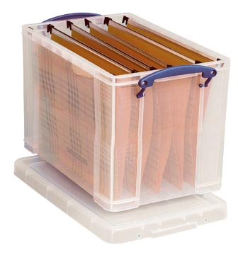 Really Useful Box boîte de rangement 19 l, pour dossiers suspendus, transparent